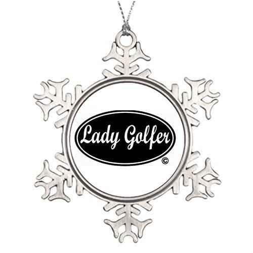 EvelynDavid Tree Decorating Ideas Golf Photo Christmas Snowflake Ornaments Tree Decor -