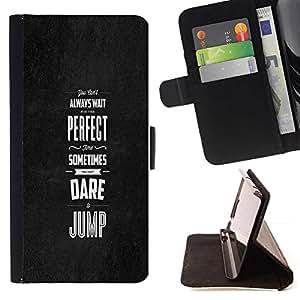 Momo Phone Case / Flip Funda de Cuero Case Cover - TIEMPO PERFECTO - Samsung Galaxy S6 Active G890A