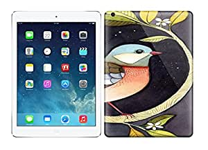 Best Power(Tm) HD Colorful Painted Watercolor Beautiful Watercolor Bird Painting Hard Phone Case For Ipad Air