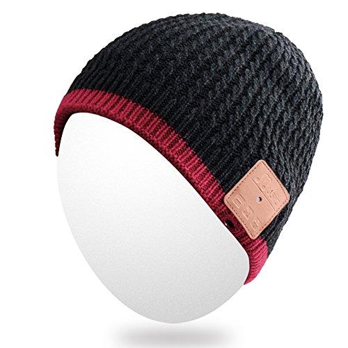 Qshell Winter Bluetooth Beanie Hat Warm Soft Knit Cap wit...