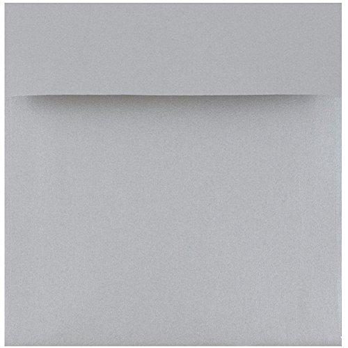 - JAM PAPER 6 x 6 Square Metallic Invitation Envelopes - Silver Stardream - 25/Pack