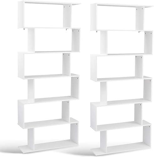 Tangkula 6 Shelf Bookcase