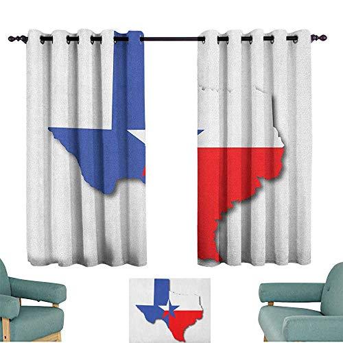 (ParadiseDecor Texas Star,Drapes Girls Outline of The Texas Map American Southwest Austin Houston City 42