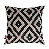Decorative Pillow Cover - Kingla Home® Decorative Throw Pillow Covers 18 X 18 Inch Cotton Linen Square Pillow Cases Black and White Series Geometry Couch Cushion Covers