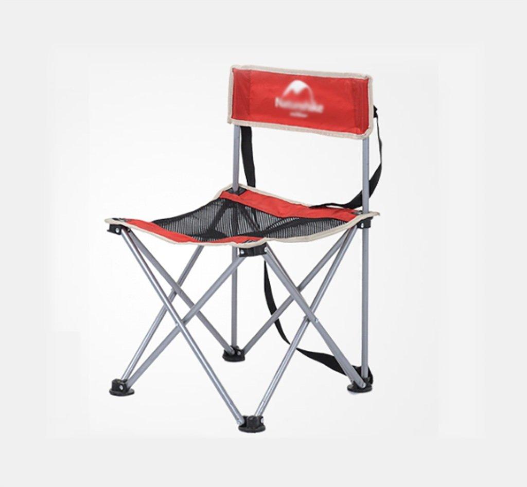 Y HWZDY Camping klappstuhl Camping Stuhl/Outdoor Klappstuhl, Angeln Freizeit Stuhl, Atmungsaktive Feste Portable Beach Chair, (Farbe : ROT)
