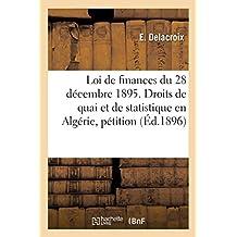 Loi de Finances Du 28 Décembre 1895. Droits de Quai Et de Statistique En Algérie, Pétition
