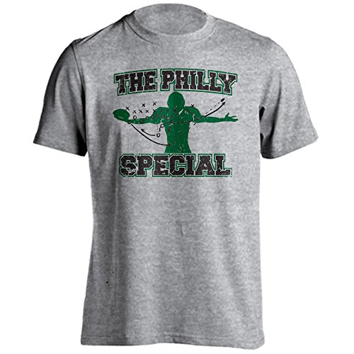 The Philly Special Trick Play 4th and 1 Underdog Championship Short Sleeve T-Shirt (Athletic Heather, (Philadelphia Phillies Gear)