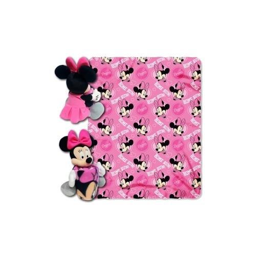 y MLB Los Angeles Dodgers Co-Branded Disney's Minnie Hugger and Fleece Throw Set ()