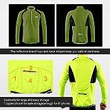 ARSUXEO Men's Half Zipper Cycling Jerseys Long