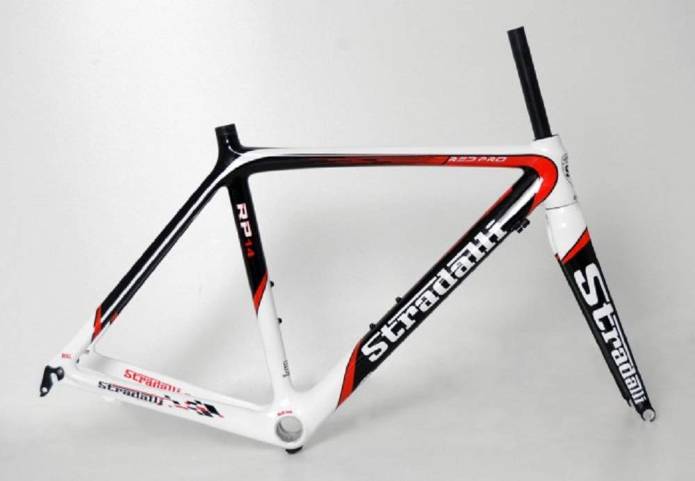 Stradalli RED-PRO RP14 フルカーボンファイバー ロード自転車フレームセット 48cm  B07QZTXP73