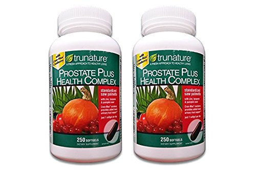 Trunature Prostate Health Complex Saw Palmetto with Zinc, Lycopene Pumpkin Seed Extra Strength – 250 Softgels Pack of 2