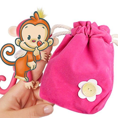 Rug Box For Finger Monkey, Franterd Dolls Portable Kids Toys Play Storage Bag (Hot Pink)