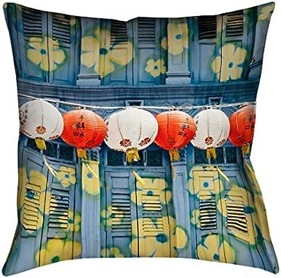 ArtVerse Annie Spratt 16 x 16 Spun Polyester Lanterns in Singapore Pillow
