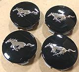wheel center cap mustang - OEM Factory Stock Genuine 2015 Ford Mustang Black Chrome Wheel Rim Center Caps Pony Horse Logo Set 4