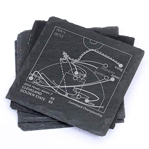 Greatest Cavaliers Plays - Slate Coasters (Set of 4) (Best Comeback In Basketball History)