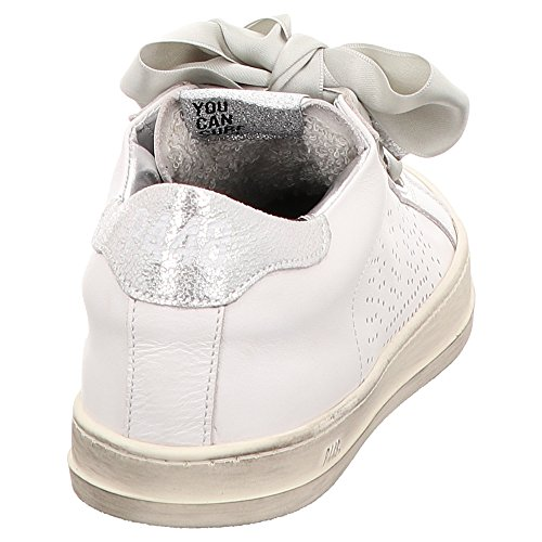 2 Mujer 0 Piel Zapatillas E8ralph de Weiß P448 para Blanco pqxPU6Snw