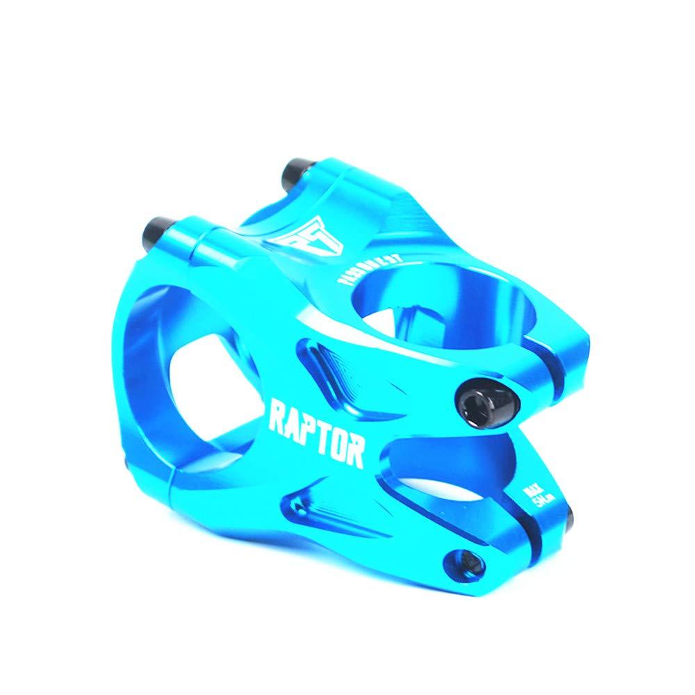 マウンテンバイクステム28.6 31.8 35ミリメートルアルミバイクステムショートハンドルバーステムライザー超軽MTB BMX DH FRほとんどの自転車、ロードバイク、マウンテンバイク、サイクリング用ハンドルバーアクセサリー (色 : 青)  青 B07H7JWC5M