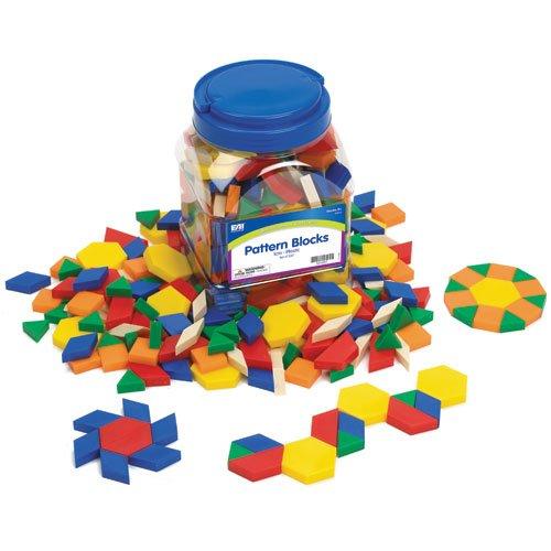 EAI Education QuietShape Foam Pattern Blocks 1cm - Set of 250