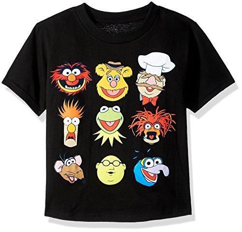 Disney Little Boys the Muppets T-Shirt, Black, 7