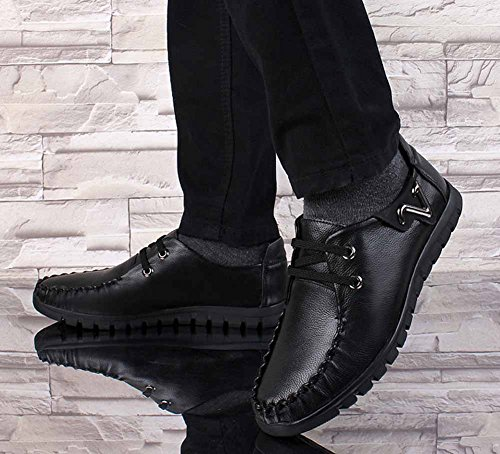 Chaussures Hommes Mode 2018 Dress Occasionnels Loafer Noir Tie GLSHI Business Oxford New Confort 4HBRRq8