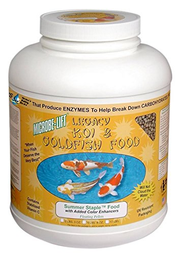 Eco Labs MLLSSLG Microbe Lift Summer Staple 36% Protein Fish Food, 4-Pound 12-Oz