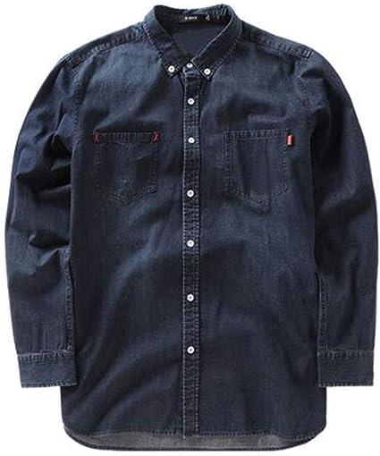 FGSJEJ Camisas para Hombres, Camisas de Hombre de Alta Gama, Camisas de Solapa de Moda Sueltas: Amazon.es: Ropa y accesorios