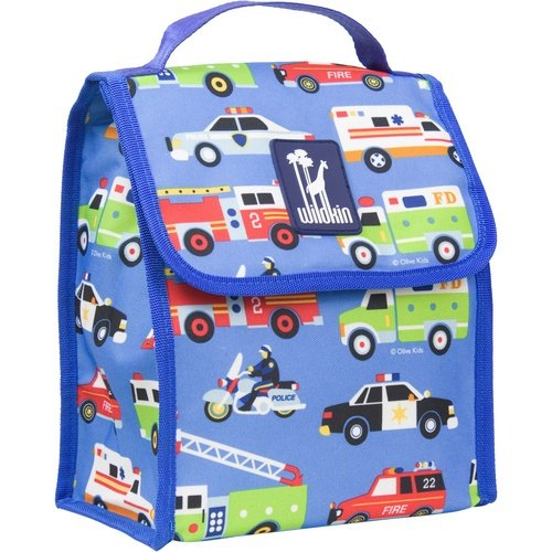 Lunch Bag, Olive Kids by Wildkin Lunch Bag, Insulated, Moisture Resistant, Easy to Clean and Folds Flat Making Storage That Much Easier, Ages 3+, Perfect for Kids or On-The-Go Parents – Heroes