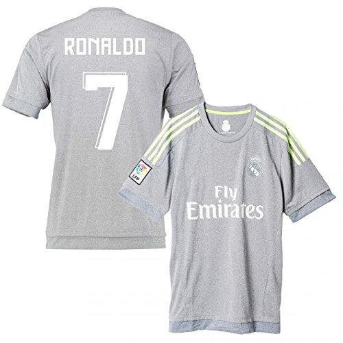[Real Madrid Away Ronaldo Kids #7 Soccer Kit Jersey and Shorts All Youth Sizes (Kids Medium 8-10 years of age)] (Real Football Kit)