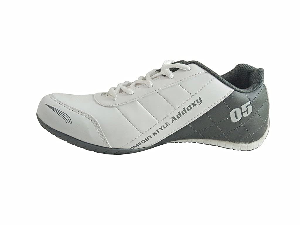 Addoxy Men's Shoe White-Gry TPR Sports