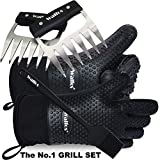 Walfos Insulated Waterproof/Oil & Heat Resistant Silicone BBQ, Smoker, Grill and Cooking Gloves