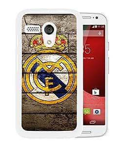 Real Madrid White Motorola Moto G Screen Phone Case Attractive and Fashion Design