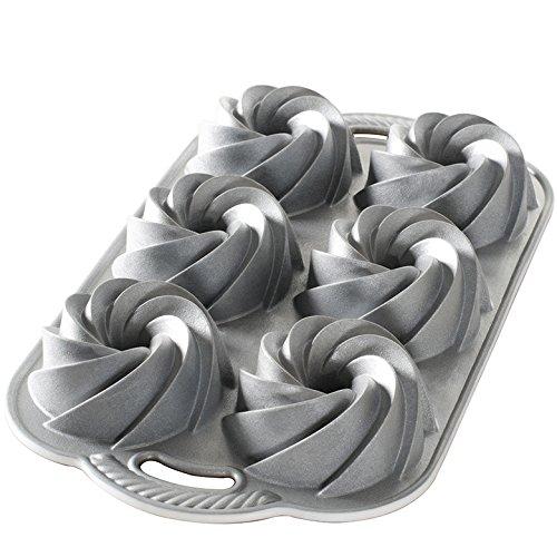 Nordic Ware Heritage Bundtlette Cake Pan  Metallic