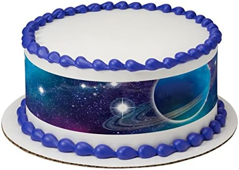 Sensational Amazon Com Outer Space Galaxy Edible Cake Border Set Of 3 Funny Birthday Cards Online Sheoxdamsfinfo