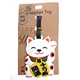 Toki Maneki Neko Lucky Cat Luggage Tag ID, Bag ID Tag