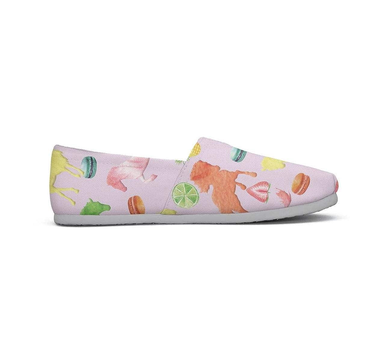 nkfbx Animal Horse Classic Flat Canva Shoes for Girls Dancing