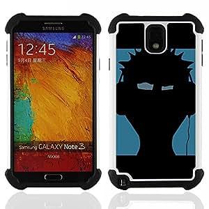 "Hypernova Híbrido Heavy Duty armadura cubierta silicona prueba golpes Funda caso resistente Para SAMSUNG Galaxy Note 3 III / N9000 / N9005 [Música Punk""]"