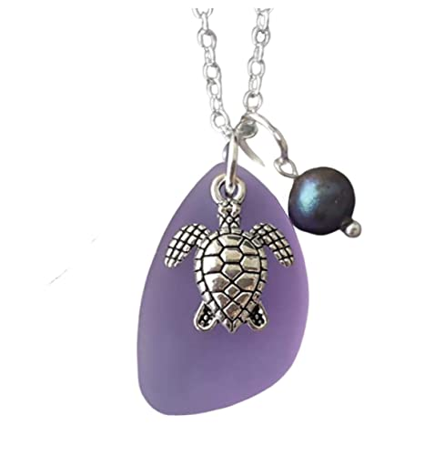 """Handmade in Hawaii /""""Magical Color Changing/"""" Wire wrapped purple necklace jewelry"""