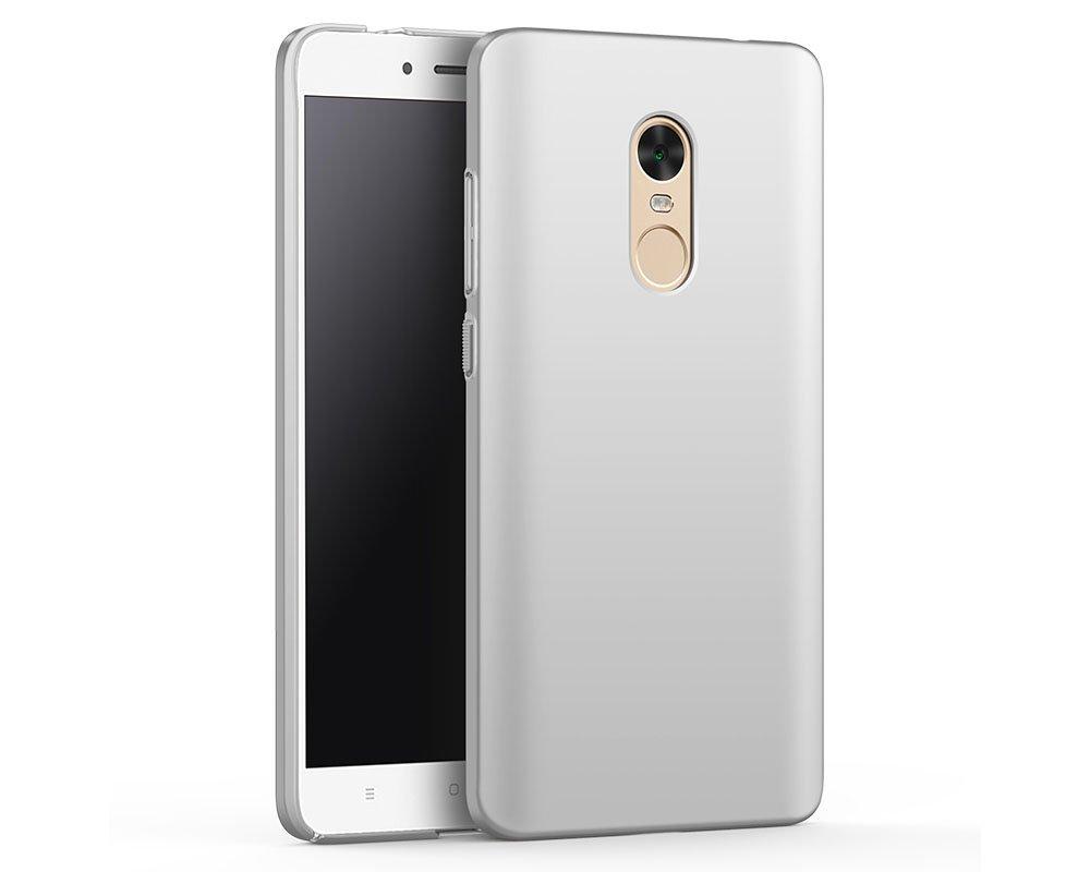 EIISSION Funda Compatible con Xiaomi Redmi Note 4X Funda,Carcasa ToughShell Funda táctil Funda Mate Funda Duro y Flexible Carcasa (Plata)
