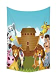 asddcdfdd Noahs Ark Decor Tapestry Noahs Ark Illustration Before The Journey All Animals Myth Faith Grace Old Story Artprint Bedroom Living Room Dorm Decor Multi