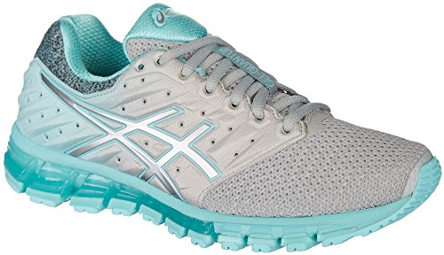 ASICS Womens Gel-Quantum 180 2 MX Running Shoe, Mid Grey/Aruba Blue/Mid Grey, Size 8.5 by ASICS