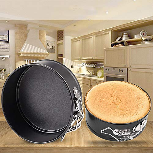 aliveGOT 4 Inch Non-Stick Leakproof Round Cake Pans Small Cheesecake Pan with Removable Bottom Pan for Mini Cheesecakes, Pizzas and Quiches -