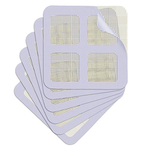 Frienda 6 Pack Window and Door Screen Repair Patch, Adhesive Repair Kit for Covering up Holes (White) Covering Kit