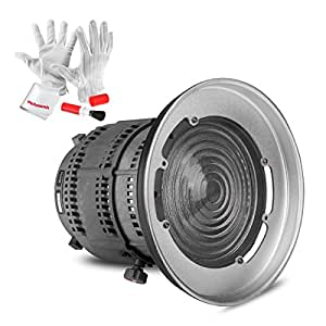Aputure Fresnel Lens for Aputure Light Storm COB 120T 120D and other Bowen-S Mount Lights - 12 to 42° Beam Angle 14000lux@0.5M to 67000lux@0.5M Adjustable - Including Pergear Cleaning Kit