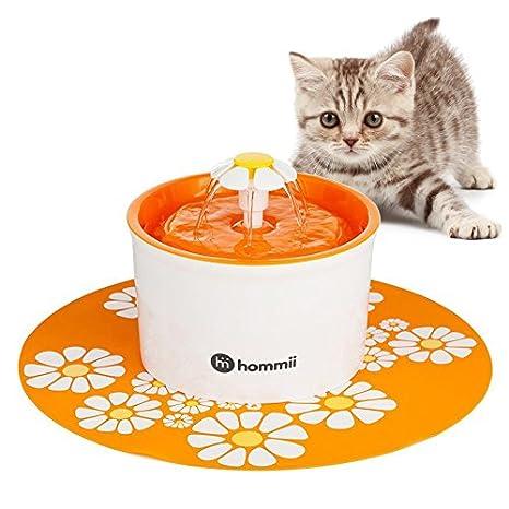 Hommii HP-88 Fuente de Agua para Perros y gatos 1.6L Eléctrico Automático 1.6 L Fuente de Flor Naranja Con Tapete Naranja: Amazon.es: Productos para ...
