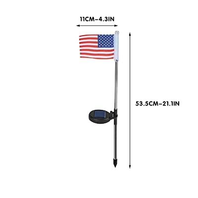 ghdonat.com 1PC ninRYA 1/4 PC American Flag Solar Garden Stake ...