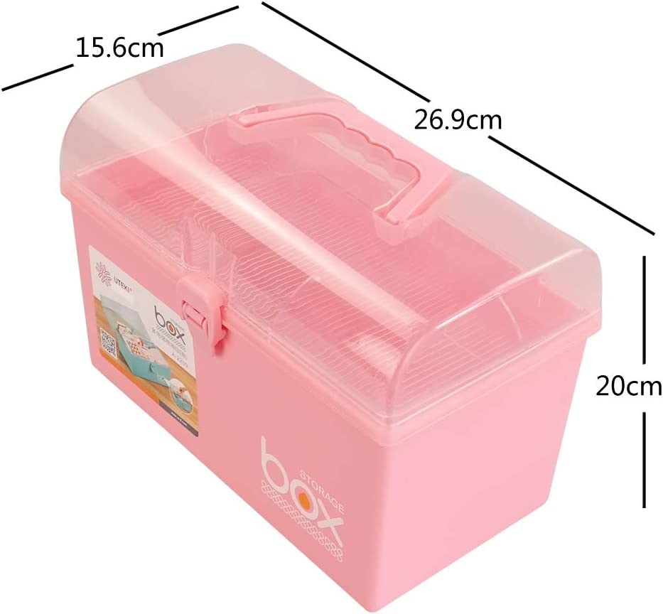 Green 1 Pack Rinboat Higher Plastic First Aid Storage Box Children Jeweller Carry box
