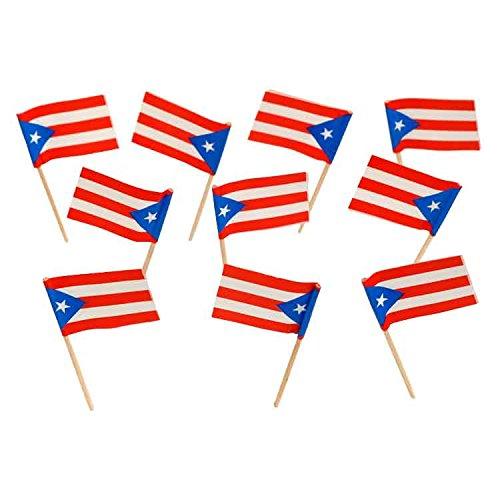 Puerto Rico   Puerto Rican Flag Toothpicks (100)