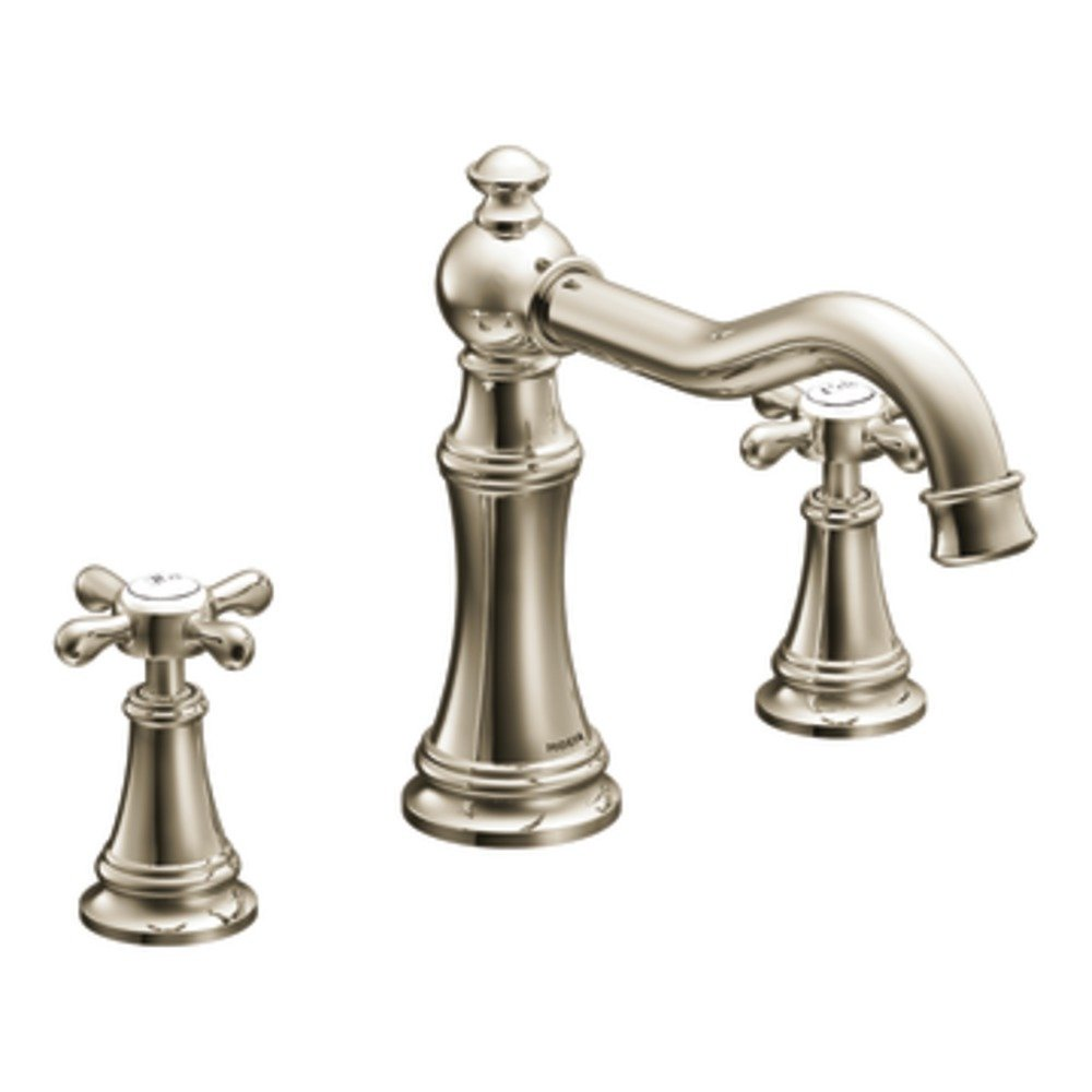 Moen Ts22101Orb Weymouth Two-Handle High Arc Roman Tub Faucet, Oil ...