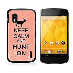 Keep Calm And Hunt On Coral Floral Samsung Galaxy Note 2 Note II N7100 Case Fits Samsung Galaxy Note 2 Note II N7100