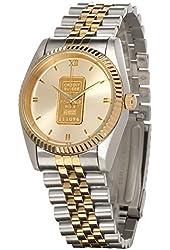 Yves Camani Capital Men's Bi-colour Watch with Swiss Gold Ingot G-34050GB-BI
